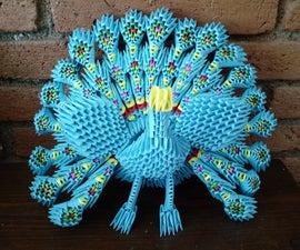 Peacock 3D Origami