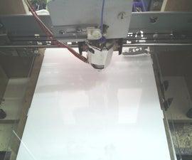 home made 3d printer end filament