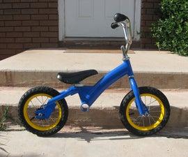 Toddler Balance Bike from used child's bike