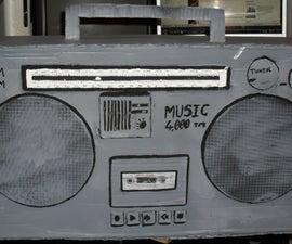 Cardboard Props: 80's Boom Box Ghetto Blaster