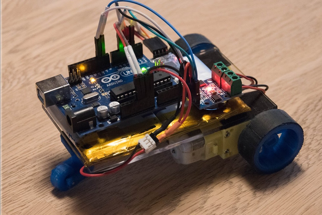Picture of DTMF Controlled Car. No Mobile Phones Required