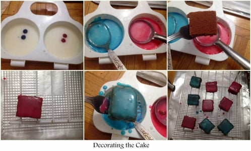 Pouring the Icing Fondant