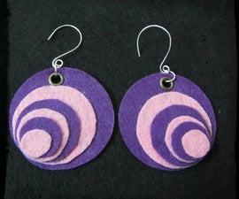 Purple Felt Earring