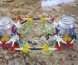How to make a easy pepsi can hat out of K'NEX