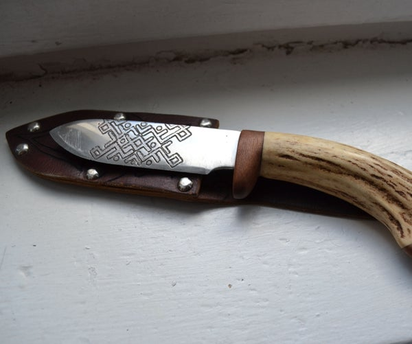 Handmade Knife and Leather Sheath