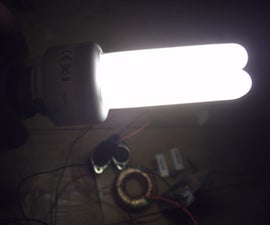 Simple 12v Compact Fluorescent Tube Ballast/inverter Only Eight Components! Updated!
