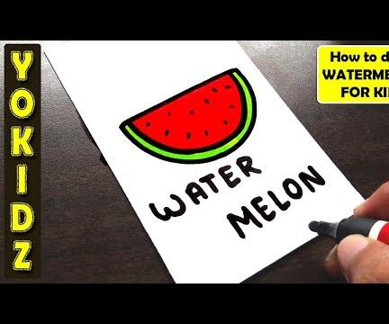 HOW TO DRAW WATERMELON FOR KIDS