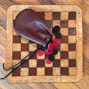 Leather Checkers Game