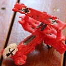 3D red barron from hot glue