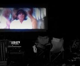 An Easy, Portable Outdoor Movie Screen