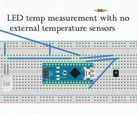 LEDs as temperature sensors