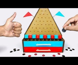 How to Make PLINKO Money Making Board Game From Cardboard DIY