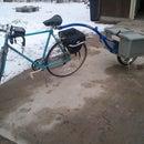 Single wheel bicycle trailer