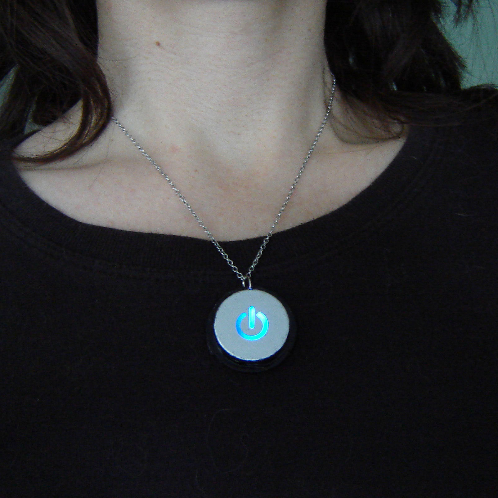 Picture of Power Button Necklace