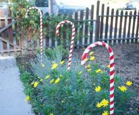 PVC Candy Cane Decorations
