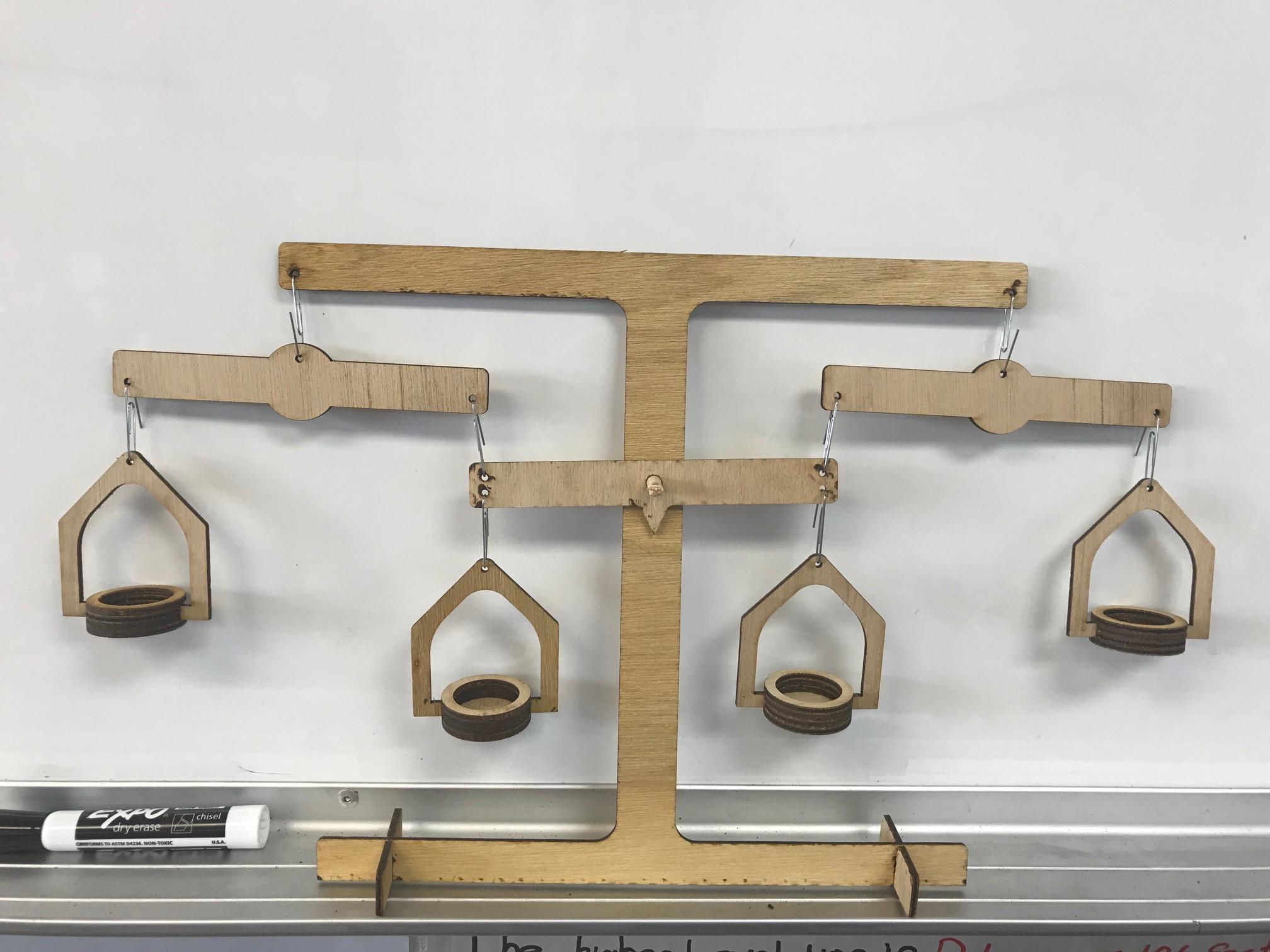 Picture of Laser Cut Algebra Balance - Teaching Tool