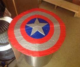 How to make a Captain America shield out of cardboard and duct tape!