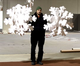 3D Puzzle Styrofoam Snowflakes