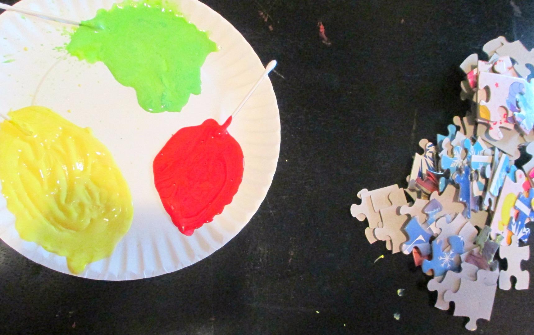 Picture of  Paint Puzzle Pieces