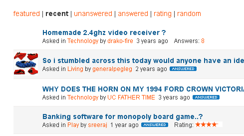 Picture of RECENT ANSWERS ARE 3 YEARS OLD