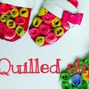 3D Quilled Miniature Pair Of Slippers