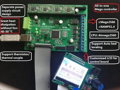 3D Control Board- the Heart of 3D Printer
