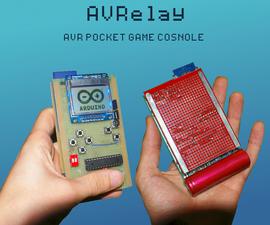 AVRelay - Self programming pocket AVR game console
