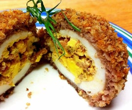 Over the Top Triple Bacon Deviled Scotch Egg