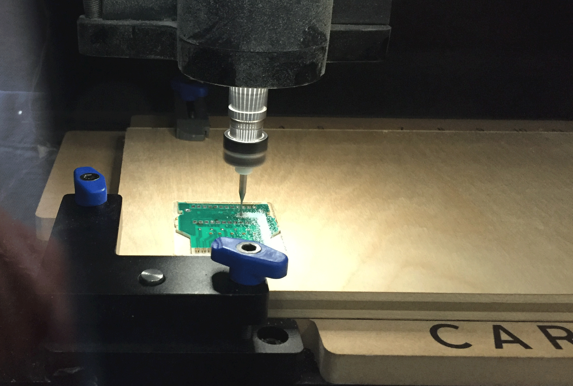 Picture of Cutting the PCB