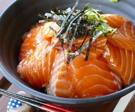 Salmon Zuke Donburi( Salmon Rice Bowl)