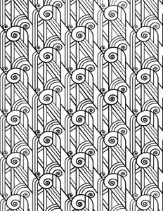 Monogram and Repeating Background