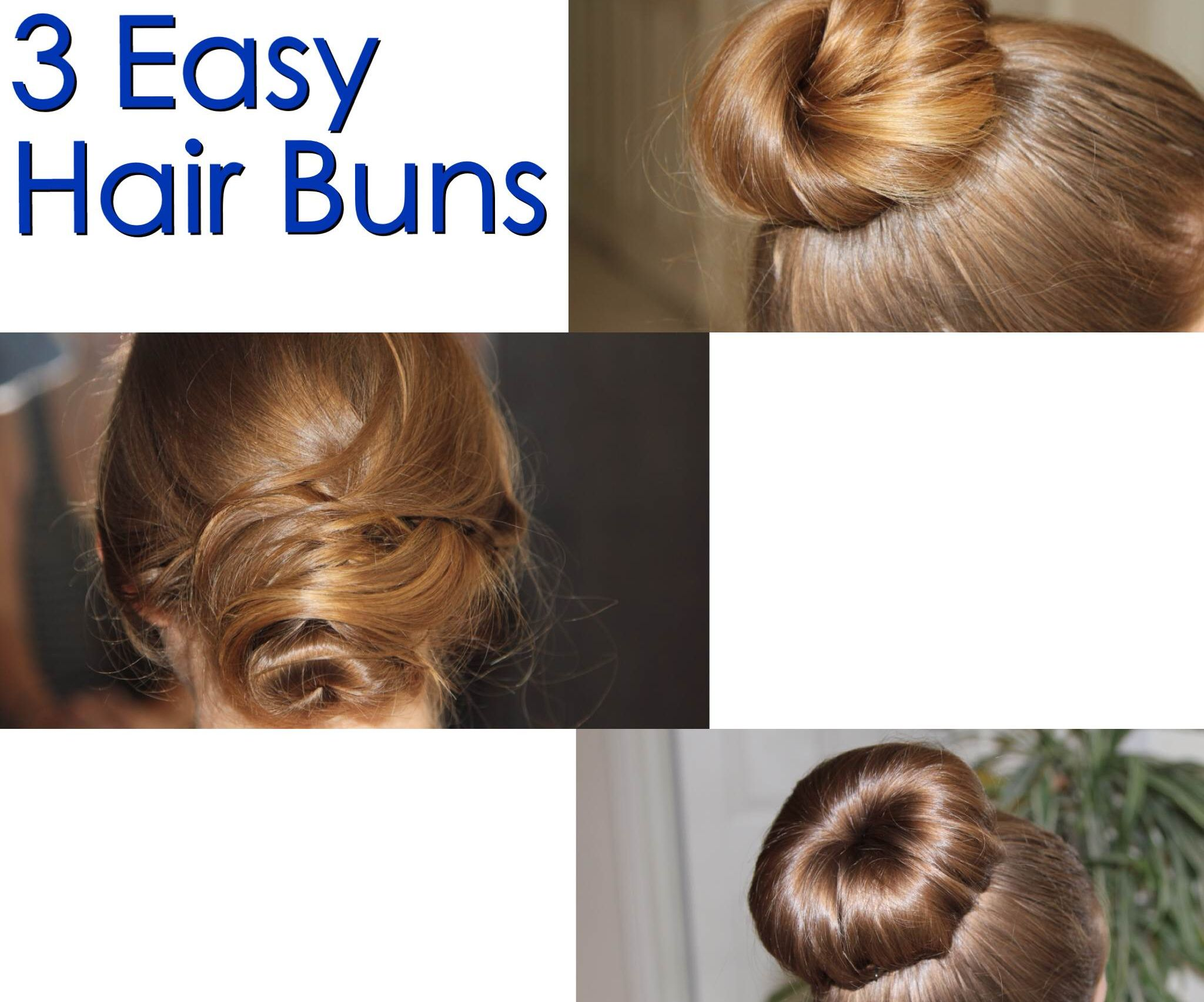 12 Easy Hair Buns : 12 Steps (with Pictures) - Instructables