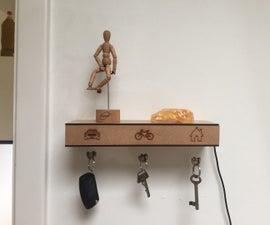 Levitating key-holder shelf