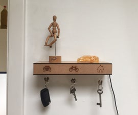 Levitating key-holder shelf