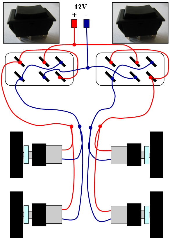Picture of DPDT Switches Using Circuit