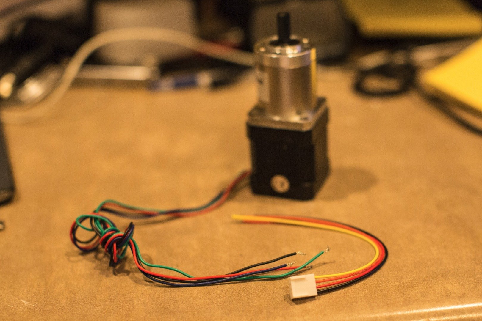 Picture of Stepper Motor Wiring