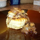 Caramelized Onion, Mushroom, & Swiss Tartlets