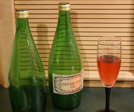 Making Rhubarb Blush (a Country Wine)