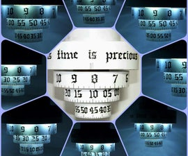 Cardboard Paper Ring Clock