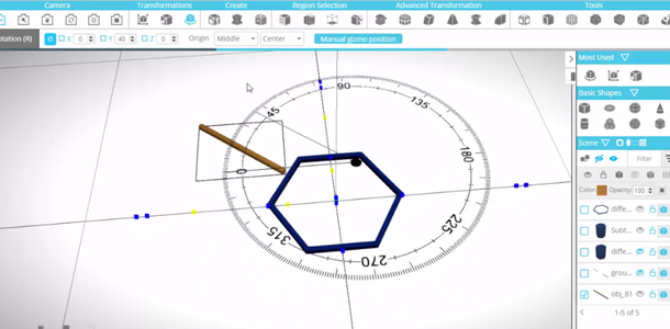 Rotating the Object Around the Centre of the Group