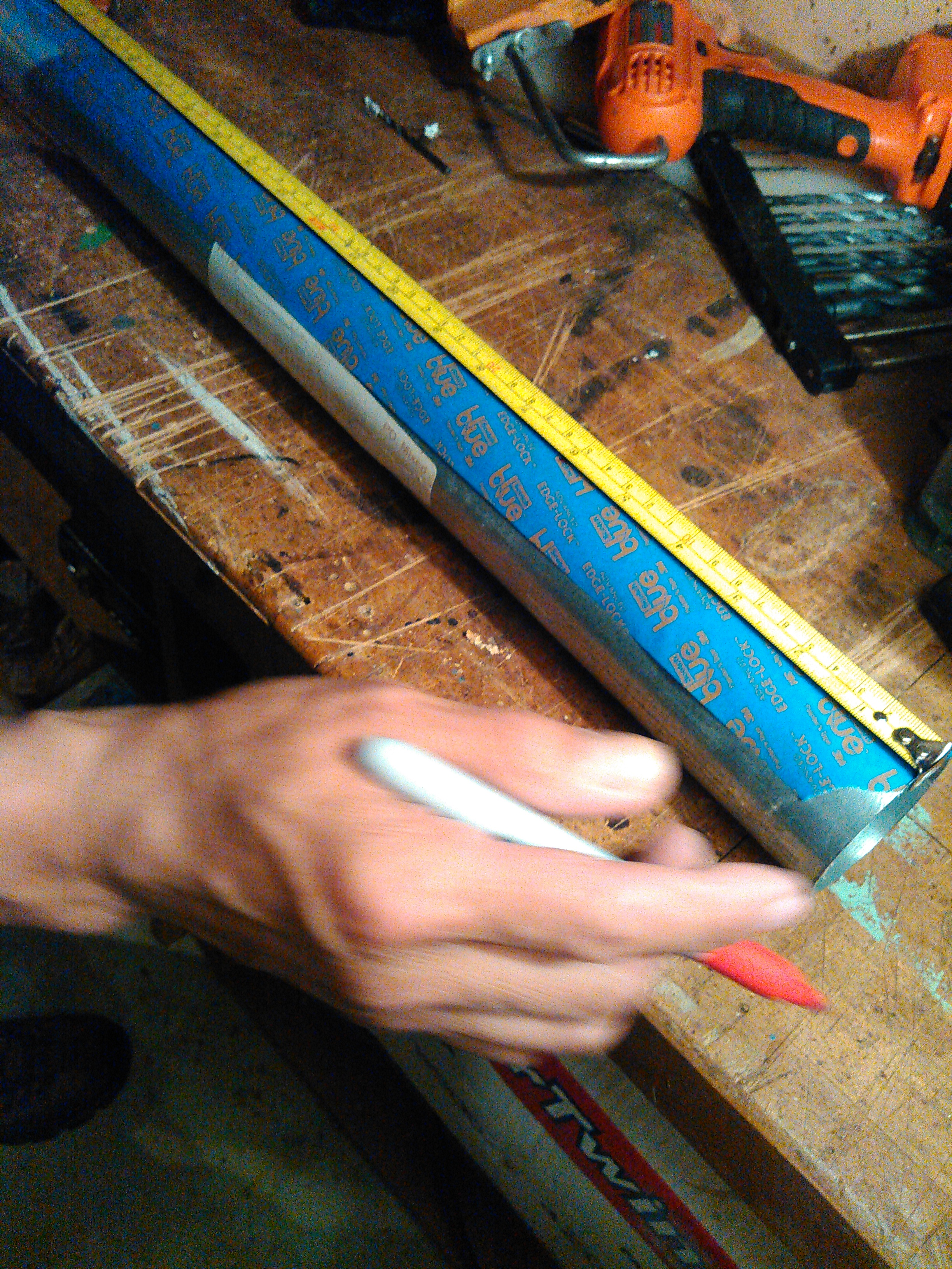 Picture of Step 4: Marking and Making the Flame Holes