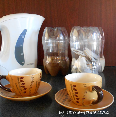 Picture of Plastic Bottles Make Great Tea, Sugar & Coffee Cannisters