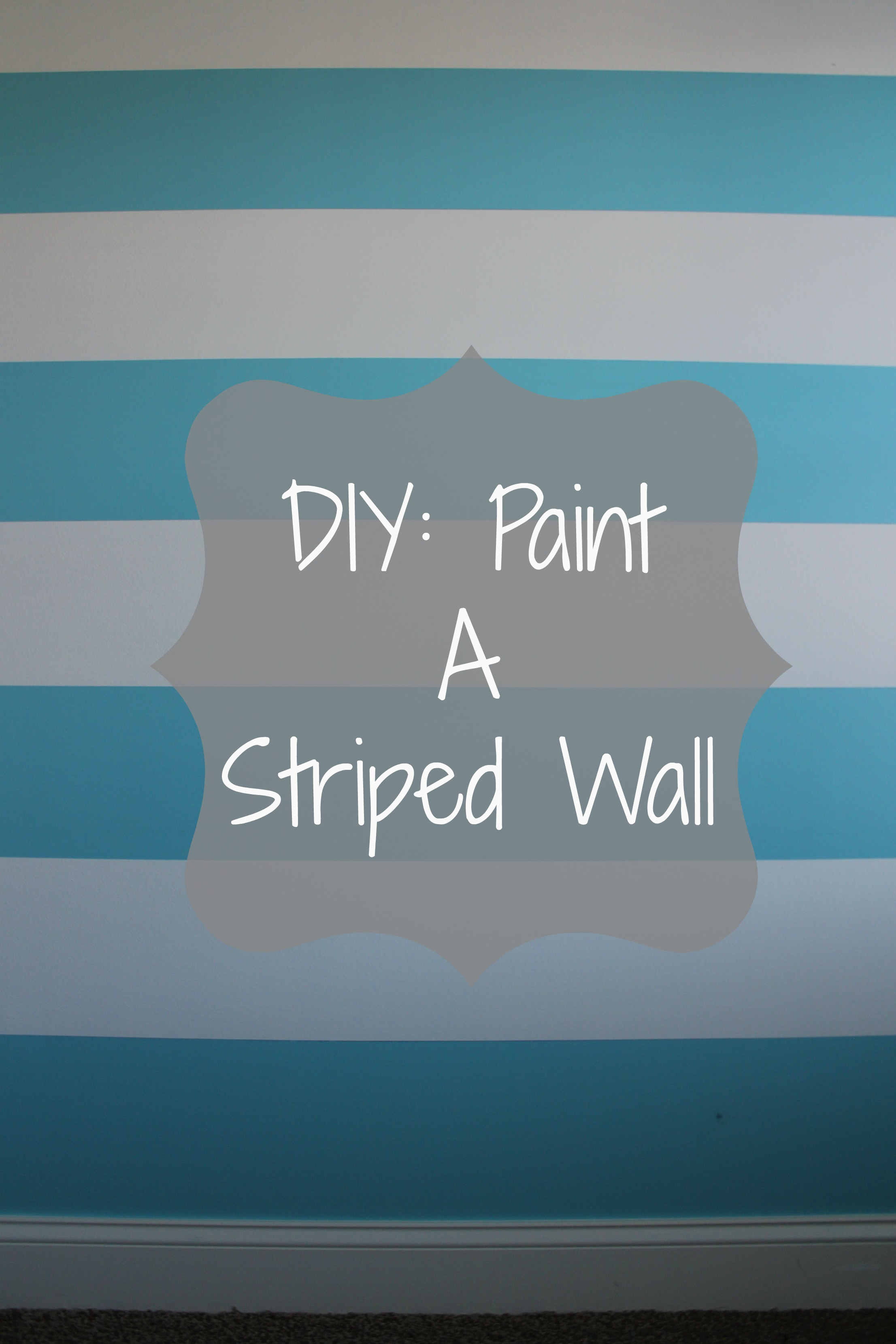Striped Bedroom Paint Diy Painting A Striped Wall