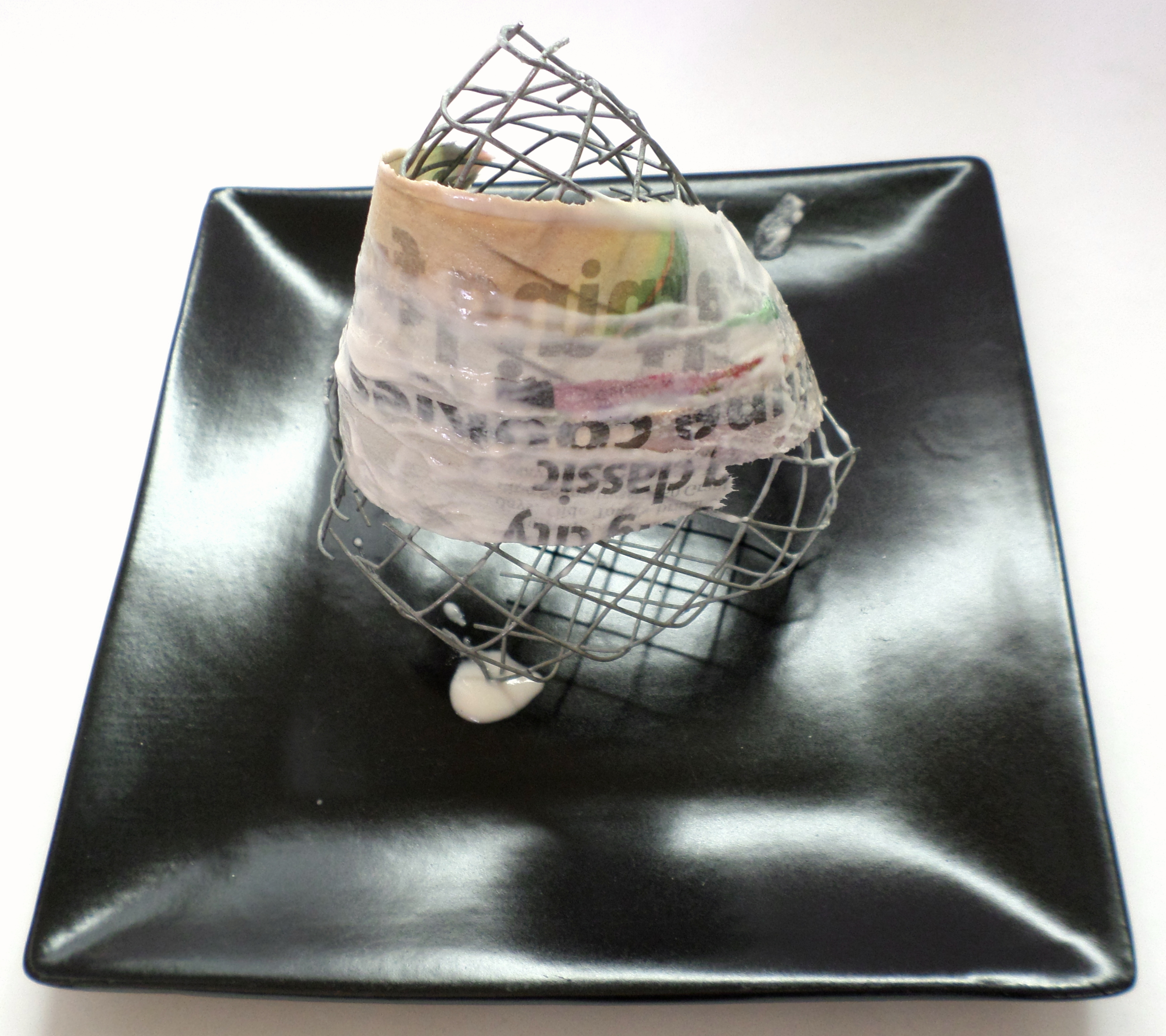 Picture of Form the Base Layer of Paper Mache