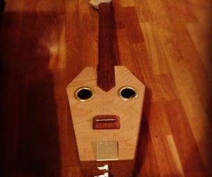 Electro Acoustic Coffin Slide Guitar
