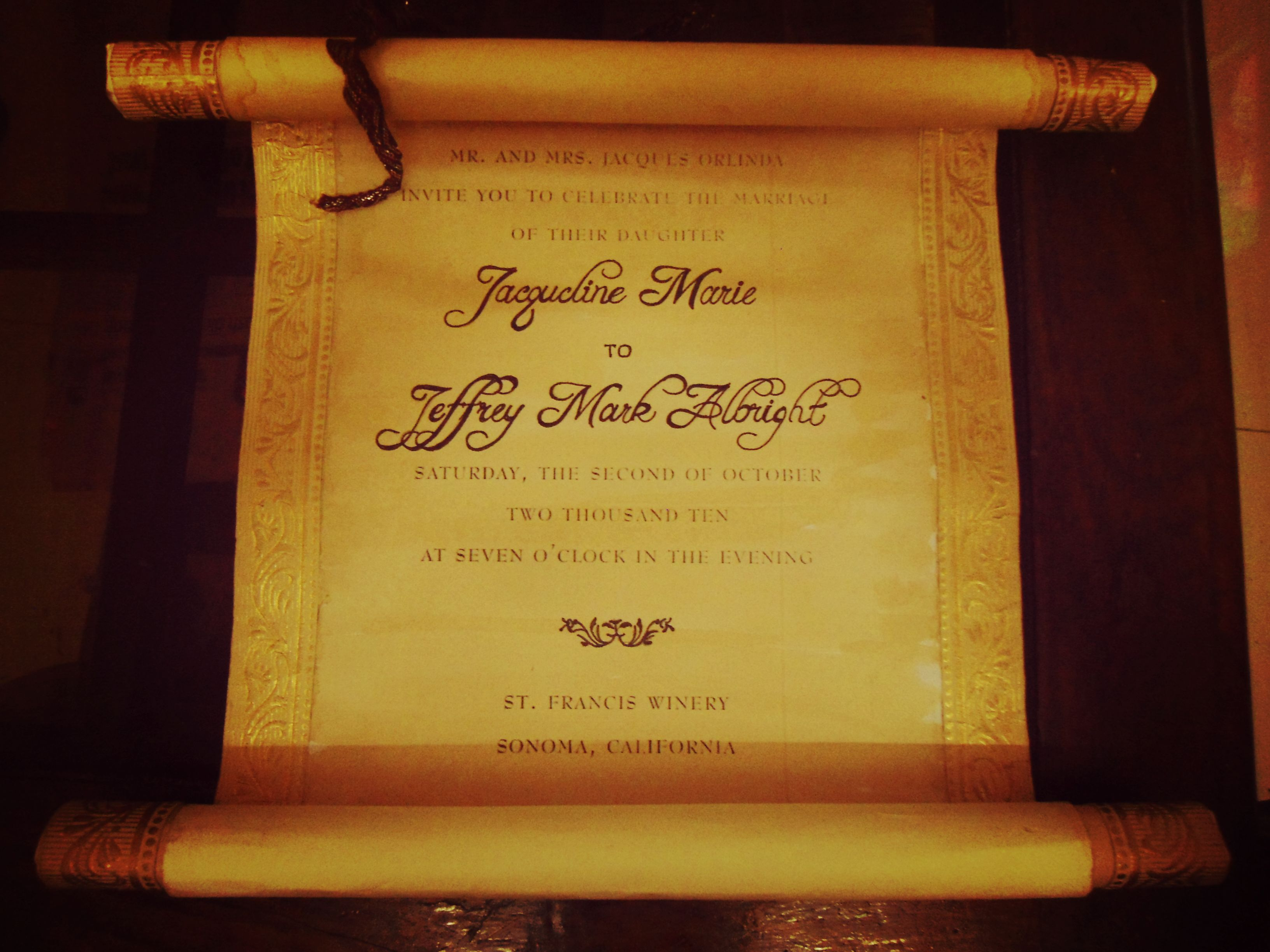 Picture of Vintage Scroll  Wedding Invitation