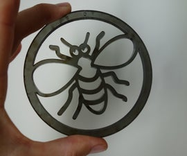 Lasercut simple bee hanging pendant
