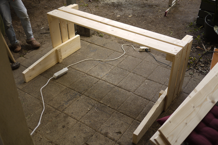 Attach the Front Slats to the Sides.