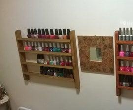 Perfect size DIY polish shelf