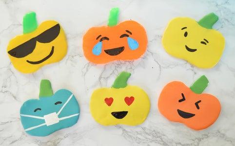 DIY Emoji Pumpkins Window Clings